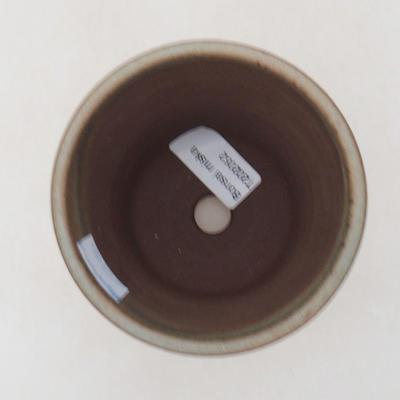 Ceramiczna miska bonsai 9,5 x 9,5 x 10,5 cm, kolor brązowy - 3
