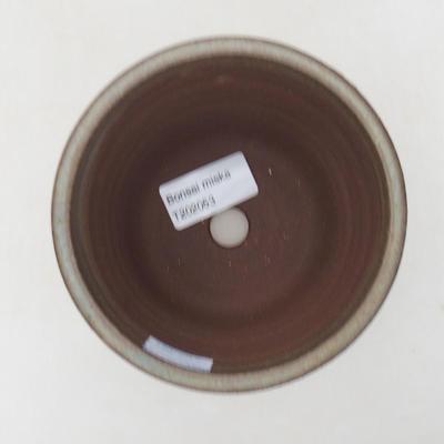 Ceramiczna miska bonsai 11 x 11 x 9 cm, kolor brązowy - 3