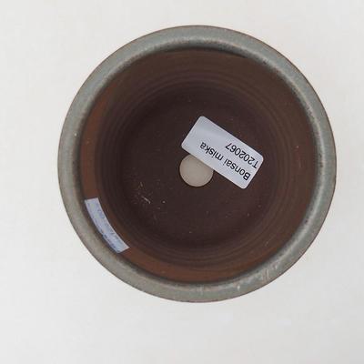 Ceramiczna miska bonsai 9 x 9 x 10,5 cm, kolor szary - 3