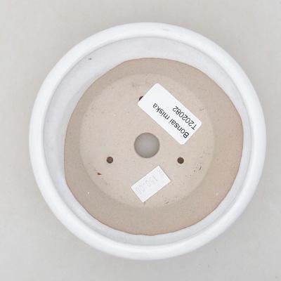 Ceramiczna miska bonsai 12,5 x 12,5 x 4 cm, kolor biały - 3