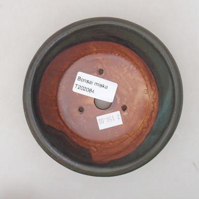 Ceramiczna miska bonsai 12,5 x 12,5 x 4 cm, kolor szary - 3