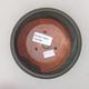 Ceramiczna miska bonsai 12,5 x 12,5 x 4 cm, kolor szary - 3/4