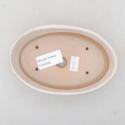 Ceramiczna miska bonsai 14 x 9,5 x 4 cm, kolor beżowy - 3