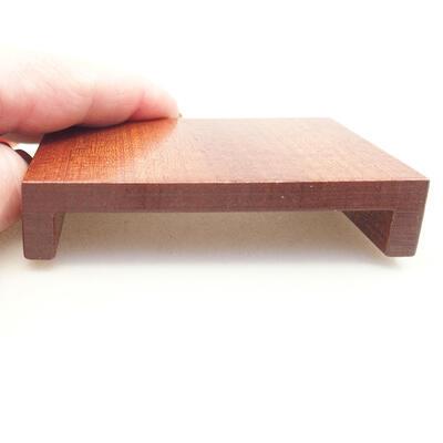 Drewniany stół pod bonsai brązowy 8 x 6 x 1,5 cm - 3