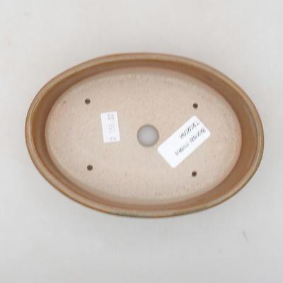 Ceramiczna miska bonsai 16 x 11,5 x 4 cm, kolor brązowy - 3