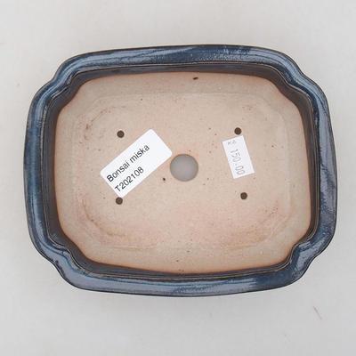 Ceramiczna miska bonsai 15 x 11,5 x 4,5 cm, kolor niebieski - 3