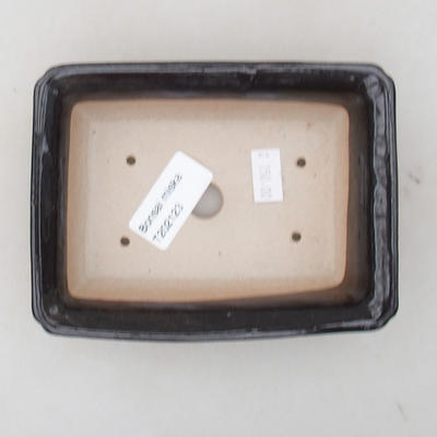 Ceramiczna miska bonsai 13,5 x 10 x 3,5 cm, kolor brązowy - 3