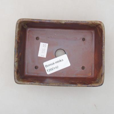 Ceramiczna miska bonsai 12 x 9 x 3,5 cm, kolor brązowy - 3