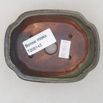 Ceramiczna miska bonsai 10 x 7,5 x 3,5 cm, kolor zielony - 3