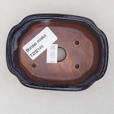 Ceramiczna miska bonsai 10 x 7,5 x 3,5 cm, kolor niebieski - 3