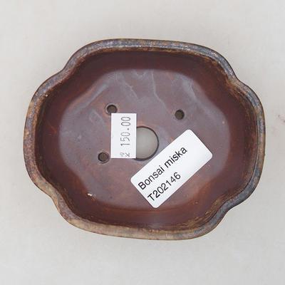 Ceramiczna miska bonsai 10 x 8 x 3 cm, kolor brązowy - 3