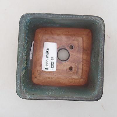 Ceramiczna miska bonsai 9 x 9 x 5,5 cm, kolor szary - 3