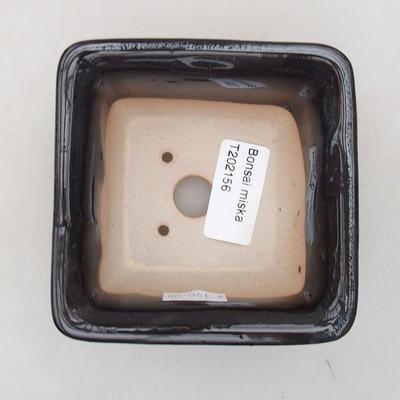 Ceramiczna miska bonsai 9 x 9 x 5,5 cm, kolor niebieski - 3