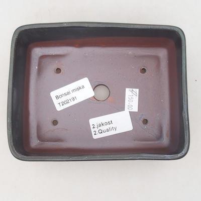 Ceramiczna miska bonsai 15 x 11 x 5,5 cm, kolor brązowo-niebieski - II gatunek - 3