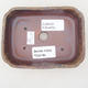 Ceramiczna miska bonsai 12,5 x 9,5 x 3 cm, kolor brązowo-zielony - II gatunek - 3/4