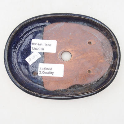 Ceramiczna miska bonsai 17 x 12,5 x 2 cm, kolor niebieski - II gatunek - 3