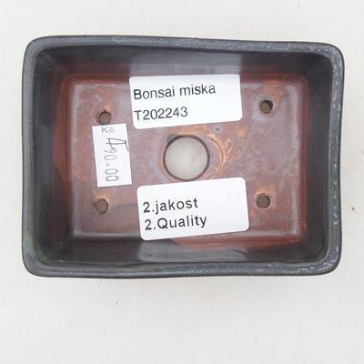 Ceramiczna miska bonsai 9,5 x 7 x 3,5 cm, kolor szary - II gatunek - 3