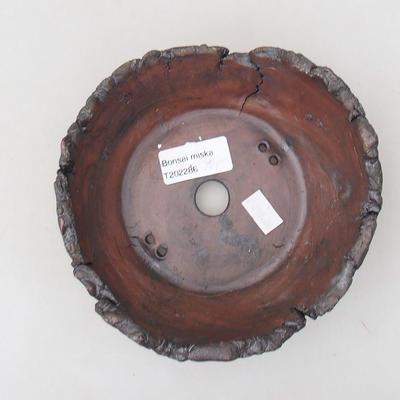 Ceramiczna miska bonsai 14 x 14 x 5 cm, kolor szary - II gatunek - 3