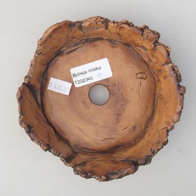 Ceramiczna miska bonsai 13 x 13 x 4 cm, kolor szary - II gatunek - 3
