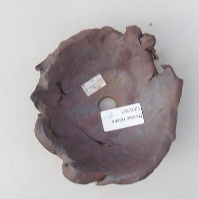Ceramiczna miska bonsai 11 x 11 x 5 cm, kolor szary - II gatunek - 3
