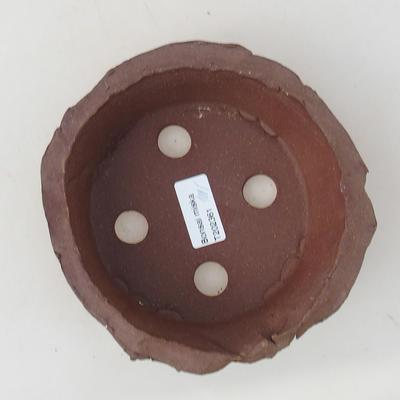 Ceramiczna miska bonsai 13 x 13 x 4,5 cm, kolor szary - II gatunek - 3