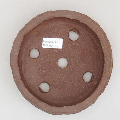 Ceramiczna miska bonsai 17 x 17 x 4 cm, kolor szary - II gatunek - 3