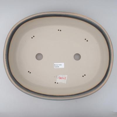 Miska Bonsai 38 x 30,5 x 8,5 cm, kolor szaro-brązowy - 3