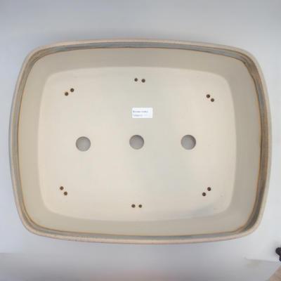 Miska Bonsai 44 x 34 x 10,5 cm, kolor szaro-beżowy - 3