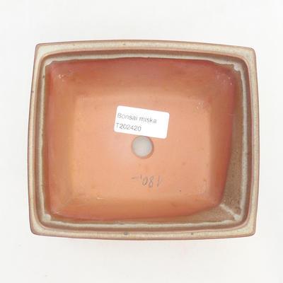 Miska Bonsai 14,5 x 12 x 7 cm, kolor brązowy - 3