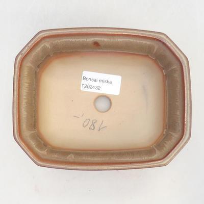 Miska Bonsai 14,5 x 12 x 6,5 cm, kolor brązowy - 3