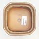 Miska Bonsai 11 x 11 x 6,5 cm, kolor brązowo-beżowy - 3/3