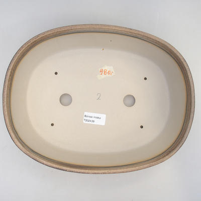 Miska Bonsai 29,5 x 23 x 8 cm, kolor brązowo-beżowy - 3
