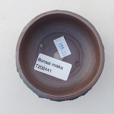 Ceramiczna miska bonsai 8 x 8 x 4,5 cm, kolor spękany - 3