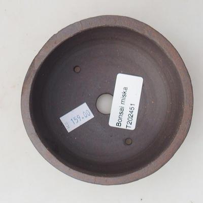Ceramiczna miska bonsai 10 x 10 x 4,5 cm, kolor spękany - 3