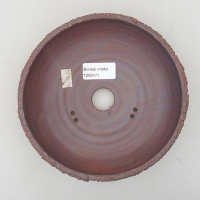 Ceramiczna miska bonsai 17,5 x 17,5 x 5 cm, kolor spękany - 3