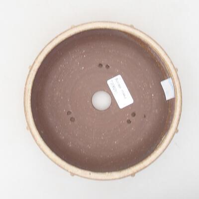 Ceramiczna miska bonsai 17,5 x 17,5 x 5,5 cm, kolor beżowy - 3