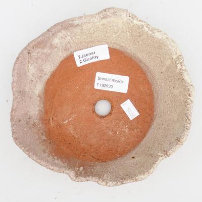 Ceramiczna miska bonsai 2. jakości - 18 x 18 x 5 cm, kolor beżowy - 3