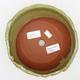 Ceramiczna miska bonsai 2. jakości - 18 x 18 x 6,5 cm, kolor zielony - 3/4