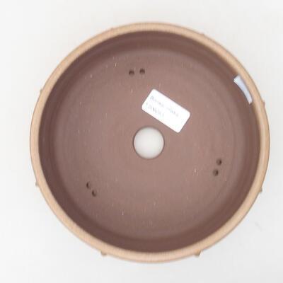 Ceramiczna miska bonsai 17,5 x 17,5 x 5,5 cm, kolor brązowy - 3