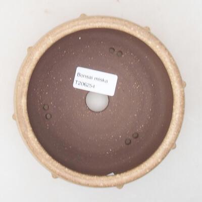 Ceramiczna miska bonsai 13,5 x 13,5 x 5,5 cm, kolor beżowy - 3
