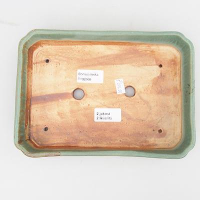 Ceramiczna miska bonsai 2. jakości - 23,5 x 17 x 4,5 cm, kolor brązowo-zielony - 3