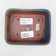 Ceramiczna miska bonsai 2. jakości - 12 x 10 x 4 cm, kolor brązowo-niebieski - 3/4