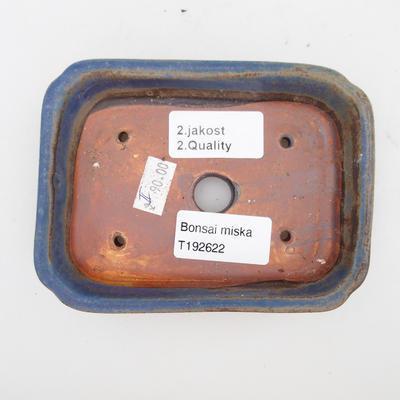 Ceramiczna miska bonsai 2. jakości - 12 x 9 x 3 cm, kolor brązowo-niebieski - 3
