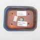 Ceramiczna miska bonsai 2. jakości - 12 x 9 x 3 cm, kolor brązowo-niebieski - 3/4