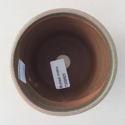 Ceramiczna miska bonsai 10 x 10 x 9 cm, kolor zielony - 3