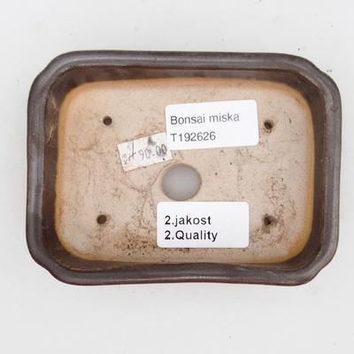Ceramiczna miska bonsai 2. jakości - 12 x 9 x 3 cm, kolor brązowy - 3