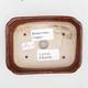 Ceramiczna miska bonsai 2. jakości - 12 x 9 x 3 cm, kolor brązowy - 3/4