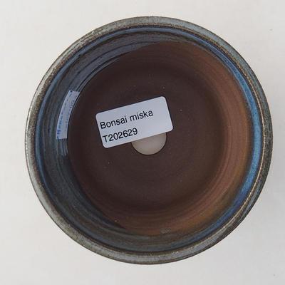 Ceramiczna miska bonsai 9,5 x 9,5 x 8 cm, kolor niebieski - 3