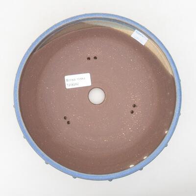 Ceramiczna miska bonsai 22 x 22 x 7 cm, kolor niebieski - 3