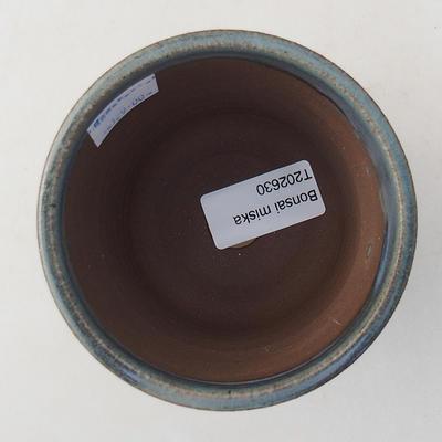 Ceramiczna miska bonsai 9 x 9 x 8 cm, kolor niebieski - 3